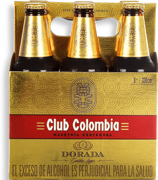 Cerveza Club Colombia Dorada - Botella 330ml x6