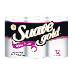 Papel Higiénico Suave Gold Triple Hoja
