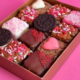 Mini Brownies San Valentin