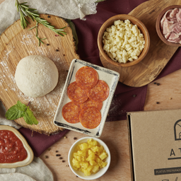 Kit Infantil Pizza Hawahiana y Pepperoni