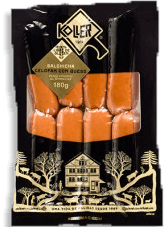 Salchicha celofán con queso