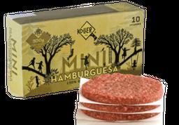 Mini hamburguesa de res 10U X 50g c/u