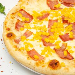 Pizza personal maíz tocineta