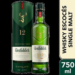Glenfiddich Single Malt Scotch Whisky 12 Years Old 750 Ml