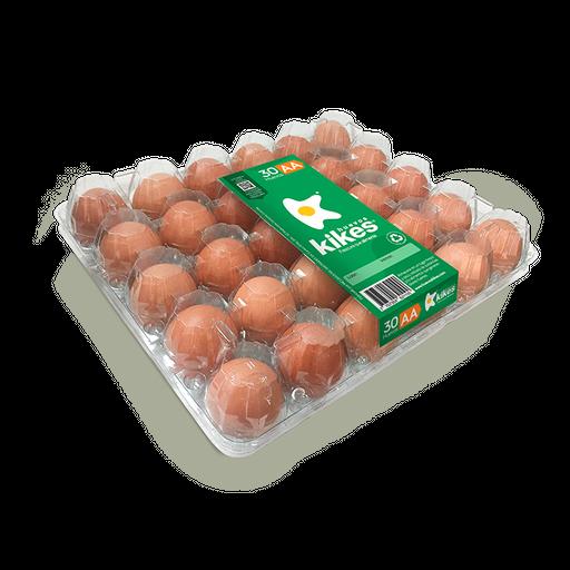 Huevo AA Rojo X 30 Empaque Transparente 100% Reciclado