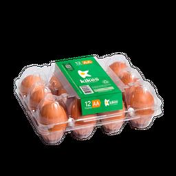 Huevo AA Rojo X 12 Pet Empaque Transparente 100% Reciclado