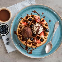 Waffle de Nutella Fresa