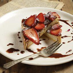 Tostada Chocolate y Fresas
