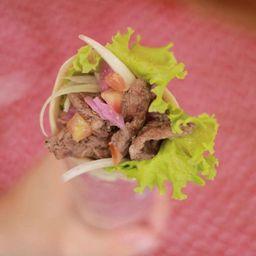 Shawarma Mixto (Solomo de Res o Pollo y Falafel)