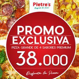 """1 Pizza Grande de """"4 Sabores"""""""