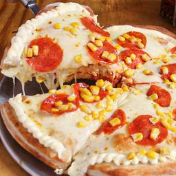 Pizza Estofada Pepperoni, Maíz, Tocineta