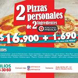 2 Pizzas Personales