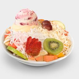 Ensalada de frutas - Grande - Con helado