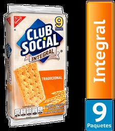 Galletas Saladas Club Social Sabor Integral Paquete 234Gr