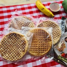 Waffle con Chips de Chocolate x4 Und