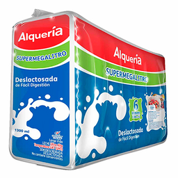 Leche Deslactosada Alqueria X 1300 Ml Sixpack