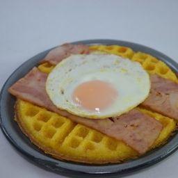 Waffle Tocineta y Huevo