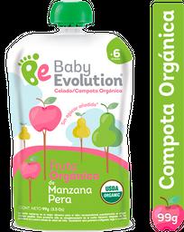 Compota Orgánica Manzana, Pera Baby Evolution