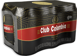 Cerveza Club Colombia Negra - Lata 330ml x6