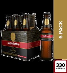 Cerveza Club Colombia Negra - Botella 330ml x6