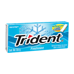 Trident Chicle Sin Azúcar Sabor Menta Fresca Pack