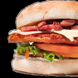 Hamburguesa Premium de Pollo Apanado