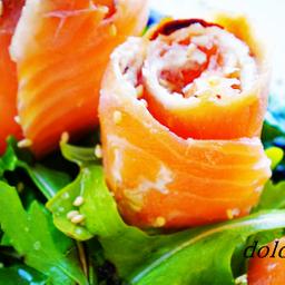 Rosas de salmon ahumado