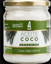 Aceite De Coco Virgen Orgánico 420 Ml