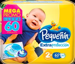 Pañales Pequeñin Extraproteccion Etapa 2 X 60  Und Megapack
