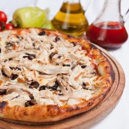 Pizza Pollo Champiñón Mediana