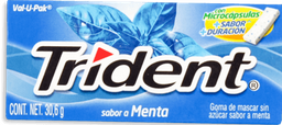Chicle Trident Sin Azúcar Sabor Menta Pack 30,6Gr