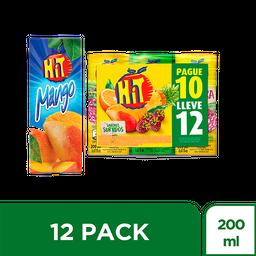 Jugo Hit pague 10 lleve 12 surtido Tetrapack 200 ml