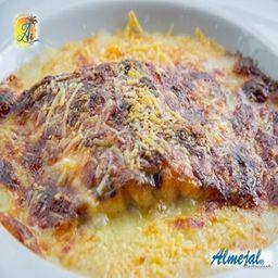 Filete Gratinado con Camarones