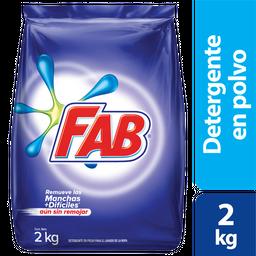 Fab Jabon En Polvo Floral X2Kg
