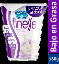 Alimento Lácteo Finesse Natural Vaso X 180G
