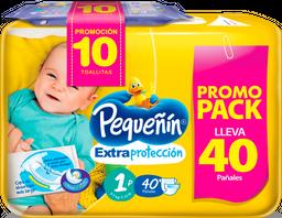 Pañales Extraproteccion Etapax40un+toallitas Recien Nacidox10un