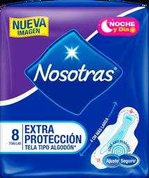Toallas Higiénicas Nosotras Extraprotección Tela x 8U