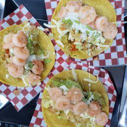 3 Tacos de Camarones