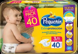 Pañales Pequeñín Extraprotección Etapa 3 X 40 Und Promopack