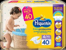 Pañales Pequeñín Extraprotección Etapa 4 X 40  Und