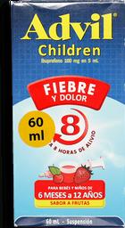 Advil Children 100 mg / 5 mL Caja Con Frasco Con 60 mL – Sabor