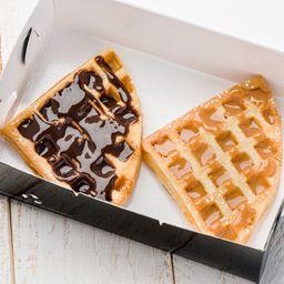 Mini Waffle Arequipe y Chocolate
