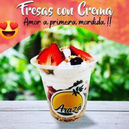 Fresas con crema!