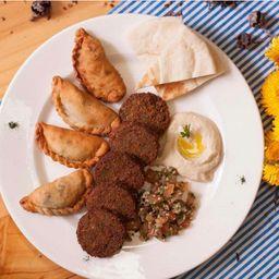 Plato Mixto Árabe Vegetariano o Vegano