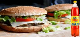 Dos hamburguesas una gaseosa 1.5