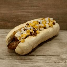 Choribread Burger + papitas premium