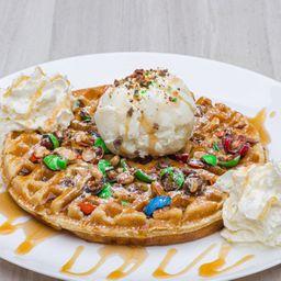 Promocion 2 waffle m&m