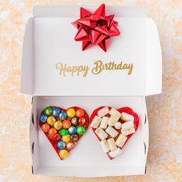 Waffle de Corazones Happy Birthday