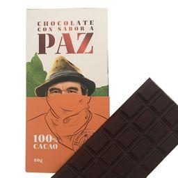 Barra de Chocolate 100 % 80 Gr