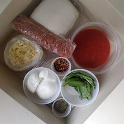 Kit para preparar pizza en casa